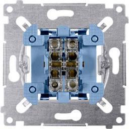 Kontakt-Simon Przycisk podwójny Simon 54 zwierny mechanizm 10AX 250V (SP2M)