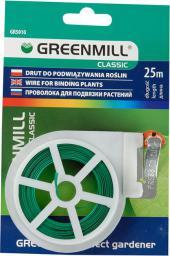 Greenmill Drut ogrodniczy płaski z obcinaczem 25m (GR5010)
