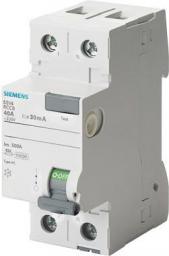 Siemens Wyłącznik różnicowo-prądowy 2P 40A 0,03A typ AC (5SV4314-0)