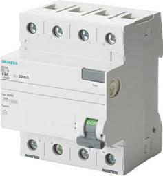 Siemens Wyłącznik różnicowo-prądowy 4P 25A 0,03A typ AC (5SV4342-0)