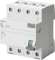 Siemens Wyłącznik różnicowo-prądowy 4P 25A 0,03A typ AC (5SV4342-0KL)