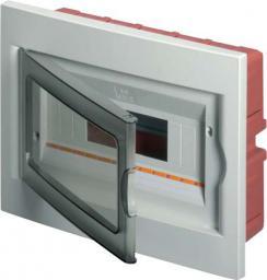 Elettrocanali Rozdzielnica modułowa podtynkowa 1x4 seria 630 drzwi transparentne szara (EC63004)
