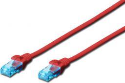 Digitus Kabel krosowy patchcord U/UTP kat. 5e czerwony 2m (DK-1512-020/R)