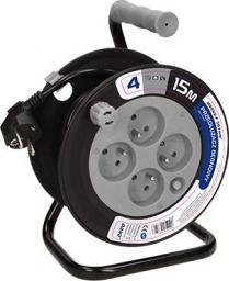 Orno Przedłużacz bębnowy MINI 4 x 230V / PVC 3 x 1mm szary 15m (OR-AE-1339/G)