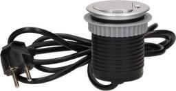Orno Gniazdo meblowe wpuszczane w blat 1x250V AC z pokrywką, ładowarką USB (OR-AE-1373)