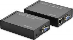 System przekazu sygnału AV Digitus Przedłużacz / extender VGA 1920 x 1200px po skrętce kat.5e UTP do 300m z audio miniJack (DS-53400)