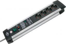 Listwa zasilająca Brennenstuhl Premium-Protect-Line przeciwprzepięciowa 4 gniazd 3m srebrny (1391004604)