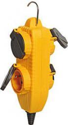 Brennenstuhl Rozgałęźnik Powerblock 4 gniazda wtykowe 230V 16A IP44 żółty (1081071)
