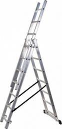 Braket Drabina aluminiowa 3-elementowa 420cm 3 x 7 szczebli (BR-00-4207)