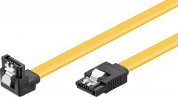 Kabel Goobay SATA prosty - kątowy 0.5m Czarny (95020)