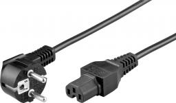Kabel zasilający Goobay Kabel zasilający Schuko type F, CEE 7/7 >C15 2m (93277)