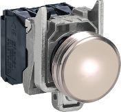 Schneider Electric Lampka sygnalizacyjna 22mm biała 230-240V AC LED (XB4BVM1)
