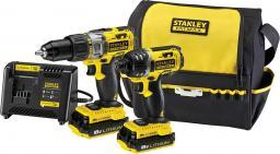 Stanley Zestaw akumulatorowy wiertarko-wkrętarka FMC625 + zakrętarka FMC645 (FMCK461C2-QW)