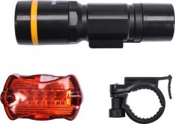 Vorel Lampa rowerowa zestaw przód + tył 1W 5 LED 3 x 1,5VAAA + 2 x 1,5V AAA (88421)