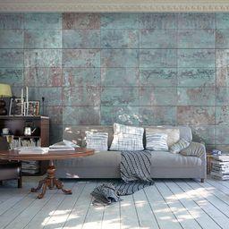 Artgeist Fototapeta - Turkusowy beton 50x1000