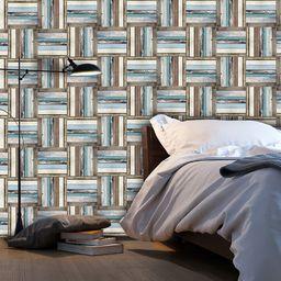Artgeist Fototapeta - Drewniany splot kolorow 50x1000