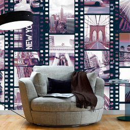 Artgeist Fototapeta - NY - Miejski kolaz 50x1000