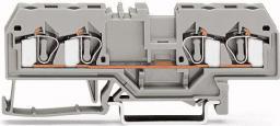 WAGO Zaczka szynowa 4-przewodowa 4mm2 szara (281-652)