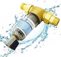"Blue Filtr do wody z zaworem spustowym Blue Water 1"" DN25 DR 100µm (B452701025)"