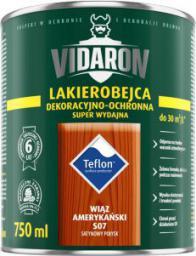 VIDARON Lakierobejca żelowa dekoracyjno-ochronna super wydajna palisander brazylijski 0,2L