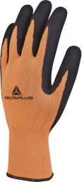 DELTA PLUS Rękawice dziane APOLLON z poliestru fluorescencyjnego chwyt z pianki lateksowej pomarańczowe rozmiar 8 (VV733OR08)