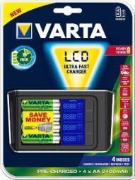Ładowarka Varta Ultra szybka ładowarka AA / AAA LCD /+4 akumulatory R2U AA 2400mAh + 12V adapter/