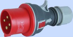 Elektromet Wtyczka przenośna prosta czerwona TWIST 4P 32A 400V (922076)