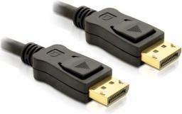 Adapter AV Delock DisplayPort - DisplayPort czarny 1m (Z09042)