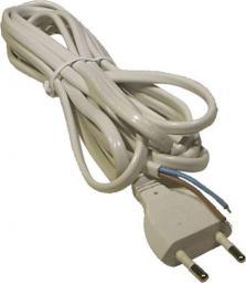 Emos Przewód przyłączeniowy H03VVH2-F 2 x 0,5mm biały 2m (S12252)