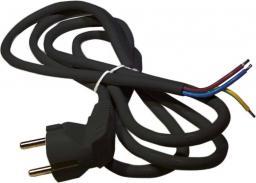 Emos Przewód przyłączeniowy H05VV-F czarny 3 x 0,75mm 2m (S18372)
