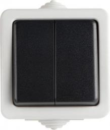 Kanlux Łącznik dwubiegunowy Tenzo śrubowy 10AX 250V czarny (25352)
