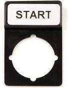 Spamel Tabliczka opisowa czarna prostokątna START (ST22-1901P04)