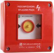 Spamel Przyciskppoż.natynkowypo zbiciu 0Z2R czerwony z młoteczkiem 24V (PWP1-W01-B-02-24-M)