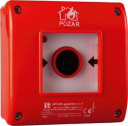 Spamel Przycisk ppoż. natynkowy 2Z 1R czerwony (OP1-W01-B-21-230VAC)