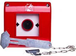 Spamel Przycisk przeciwpożarowy natynkowy 1Z czerwony z młotkiem (OP1-W01-A10-M)