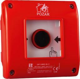 Spamel Przycisk ppoż. natynkowy 1Z 1R czerwony (OP1-W01-B11)