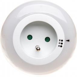 Lampka wtykowa do gniazdka Orno LED z gniazdkiem (OR-LA-1404)
