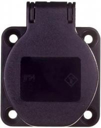 PCE Gniazdo tablicowe 10/16A 2P+Z 230V czarne IP54 (104-0ss)