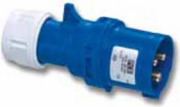 PCE Wtyczka przenośna 16A 3P 230V niebieska IP44 SHARK (013-6v)