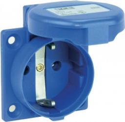 PCE Gniazdo tablicowe 10/16A 2P+Z SCHUKO 230V niebieskie IP54 (105-0bs)