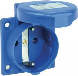 PCE Gniazdo tablicowe 10/16A 2P+Z SCHUKO 230V niebieskie IP44 (1050-0b)
