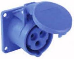 PCE Gniazdo tablicowe 16A 3P 230V 75 x 75 niebieskie IP44 (313-6f5)