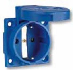 PCE Gniazdo tablicowe 10/16A 2P+Z 230V niebieskie IP44 (1050-0bs)