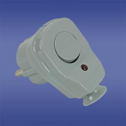 Elektro-Plast Wtyczka kątowa rozbieralna z przełącznikiem i wskaźnikiem z/u 16A 2P AWA-ŁK transparentna (51.22)