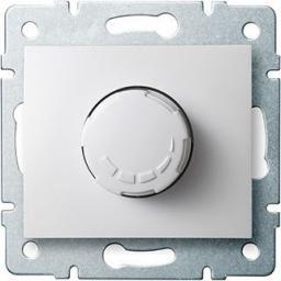 Kanlux DOMO Ściemniacz obrotowy 500W z filtrem śrubowy 10AX 250V biały (24727)