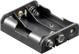Goobay Koszyk na baterie 3x AA ze złączem 6F22 (11984)