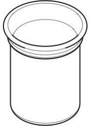 Axor Kielich do szczotki WC Montreux wisząca biały  (42094000)