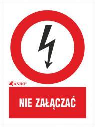 ANRO Tabliczka ostrzegawcza Nie załączać 52 x 74mm (3EZA/Q1/F)