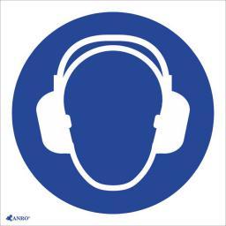ANRO Tabliczka Stosuj ochronę słuchu z podpisem (IM1/C1/F)