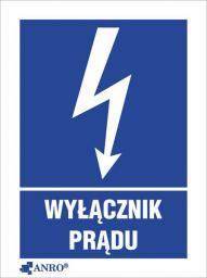 ANRO Tabliczka Wyłącznik prądu 52 x 74mm (8EIA/Q1/F)